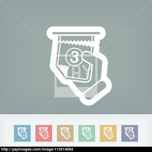 Ticket Queue Icon Vector