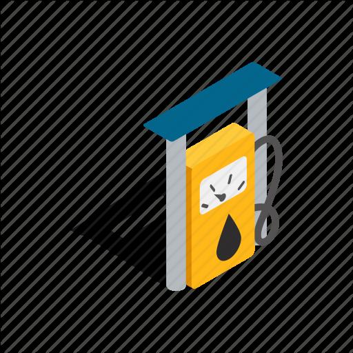 Fuel, Gas, Isometric, Petrol, Pump, Station, Transportation Icon