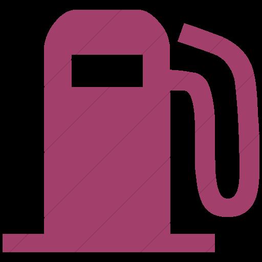 Simple Pink Classica Fuel Pump Icon