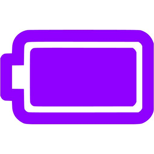 Violet Full Battery Icon