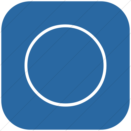 Flat Rounded Square White On Blue Classica Full Moon Icon
