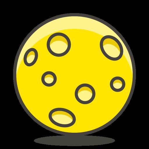 Full, Moon Icon Free Of Free Vector Emoji