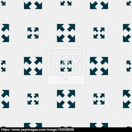 Full Screen Icon Sign Seamless Pattern With Geometric Texture
