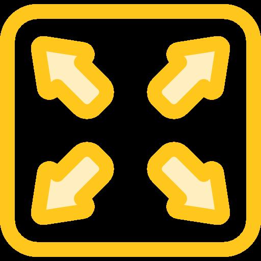 Edit Tools, Arrows, Fullscreen Icon