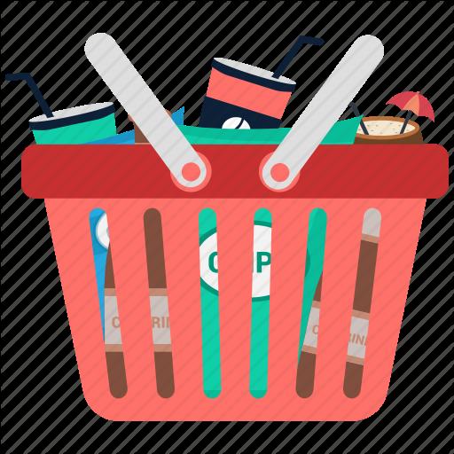 Basket, Buying, Full, Shopping, Shopping Basket Icon
