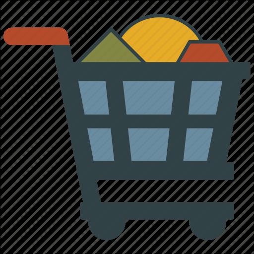 Basket, Cart, Full, Shopping Icon