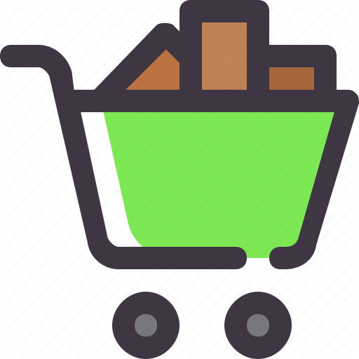 Buy, Cart, Full, Shopping, Trolley Icon