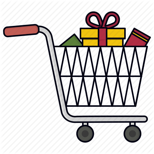 Full, Gift Purchase, Shopping Cart, Trolley, Trolly Icon