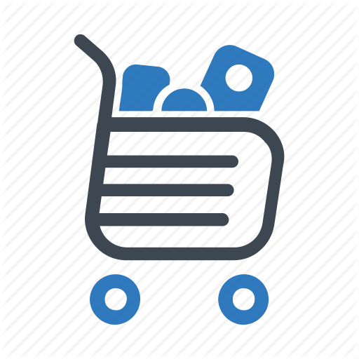 Full, Groceries, Shopping Cart Icon