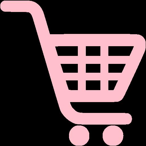 Pink Shopping Cart Icon