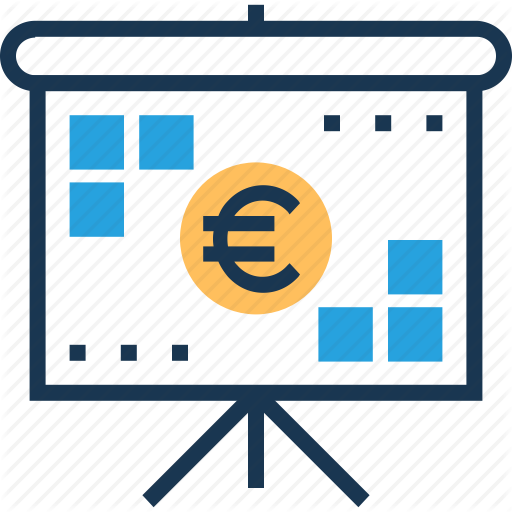 Business Presentation, Currency, Euro, Fundraising, Presentation Icon