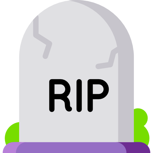 Rip, Gravestone, Funeral, Death, Halloween, Grave Icon