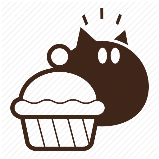 Black Cat, Cake, Cartoon, Cat, Hungry, Pet, Pop Eyed Icon
