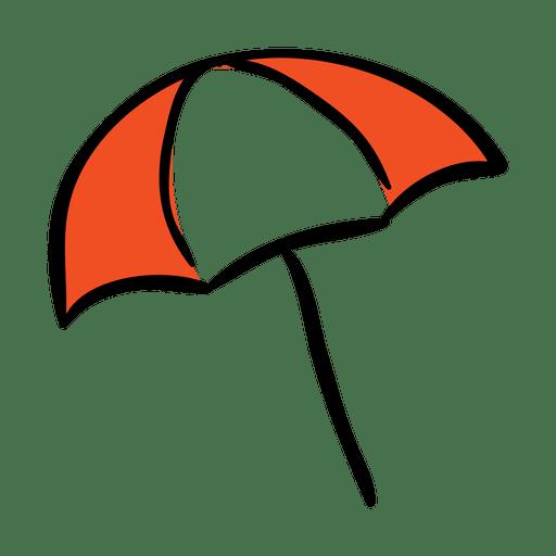 Funny Umbrella Travel Icon