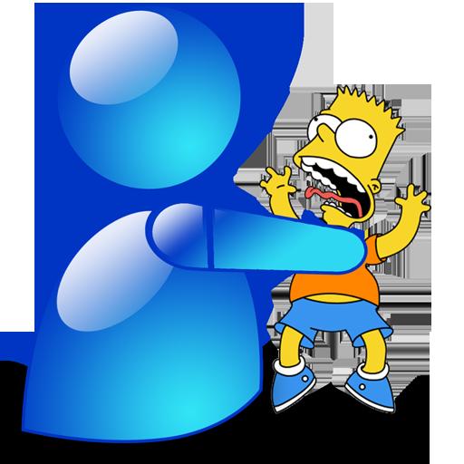 Msn Icon Simpsons Iconset Gordon Irving