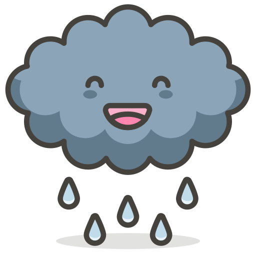 Cloud, Rain, Funny Icon Free Of Another Emoji Icon Set