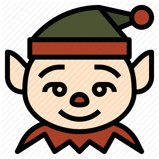 Christmas, Cute, Elf, Funny Icon