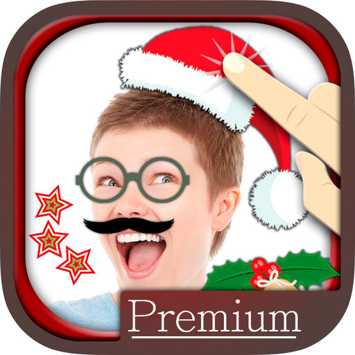 Photo Editor With Funny Christmas Icons