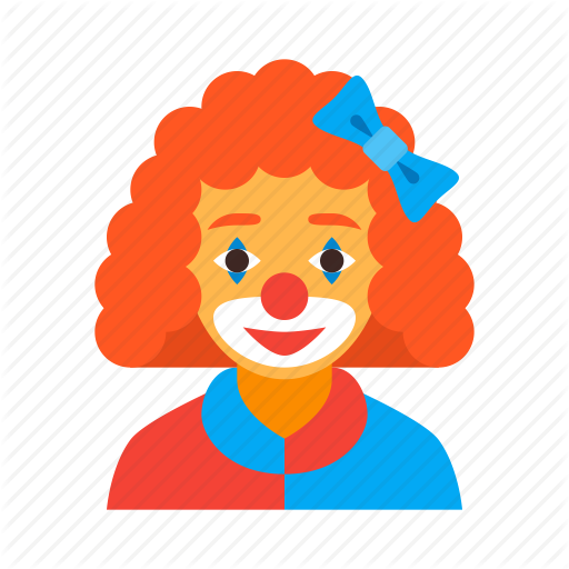 Circus, Clown, Female, Funny, Jester, Red, Woman Icon