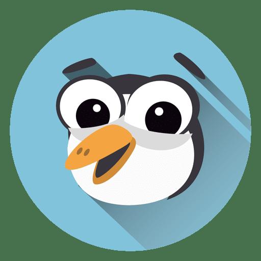 Toucan Cartoon Circle Icon