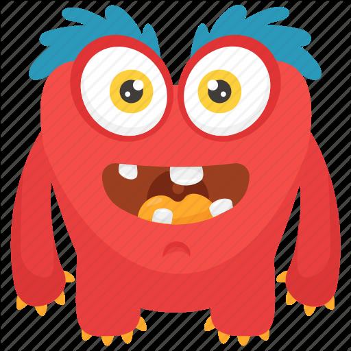 Demon Character, Furry Monster, Gossamer Cartoon Character