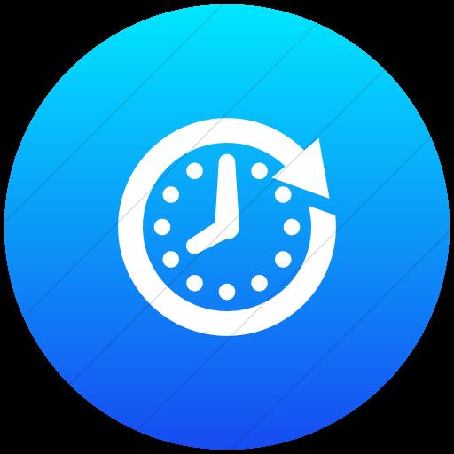Flat Circle White On Ios Blue Gradient Raphael Clock