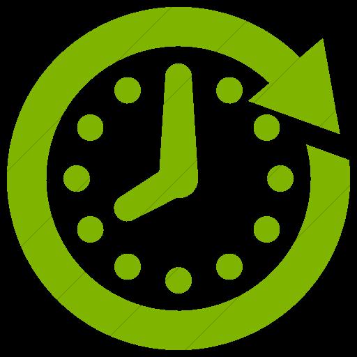 Simple Green Raphael Clock Future Icon