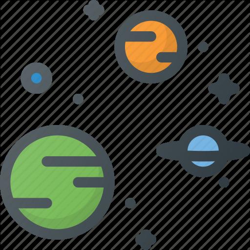 Astronomy, Galaxy, Planet, Solar, Star, System, Universe Icon