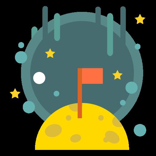 Flag, Galaxy, Goal, Lunar, Moon, Planet, Space Icon Free