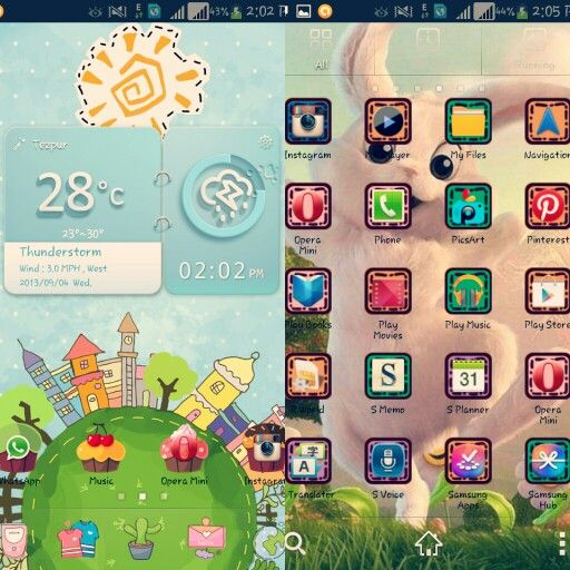 My New Theme With Paperland Live Wallpaper Android Themes