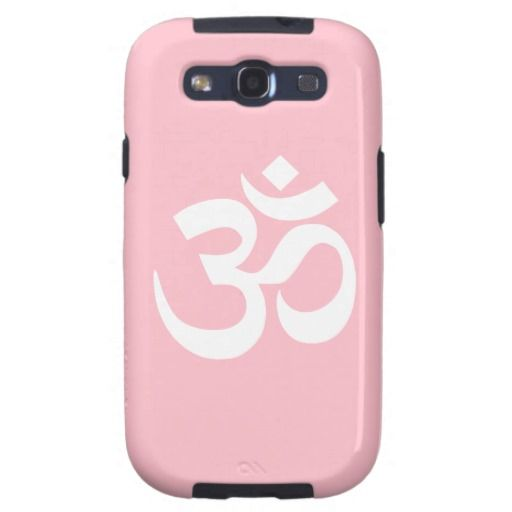 Pink And White Om Symbol Galaxy Cover Om Symbol