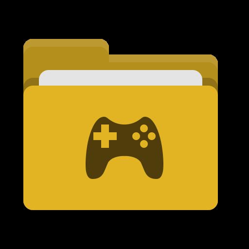 Folder, Yellow, Games Icon Free Of Papirus Places