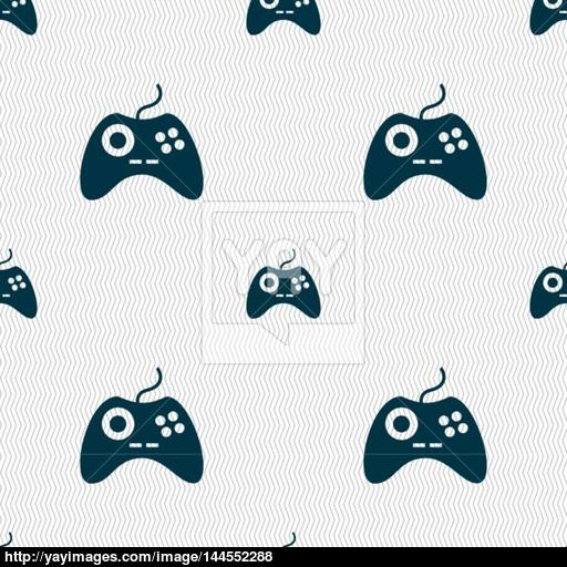 Joystick Sign Icon Video Game Symbol Seamless Abstract