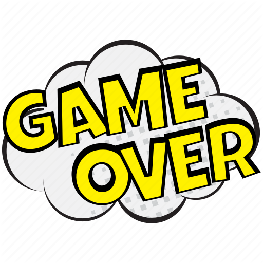 Disappointment Sound Visual, Game Over, Game Over Comic Bubble