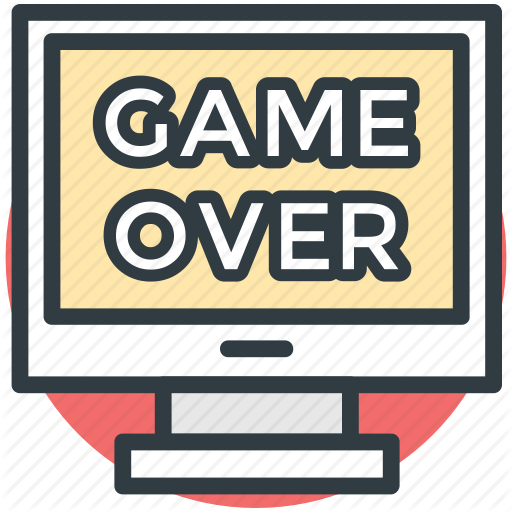 Game, Game Over, Lcd, Led, Monitor Screen Icon