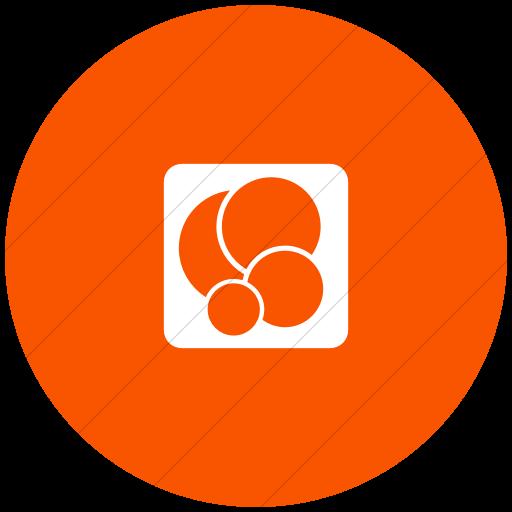 Flat Circle White On Orange Foundation Social Game