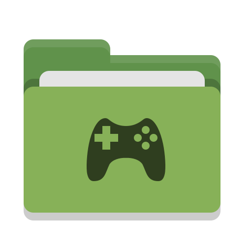 Folder, Green, Games Icon Free Of Papirus Places