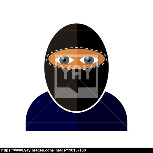 Gangster Icon Isolated Vector
