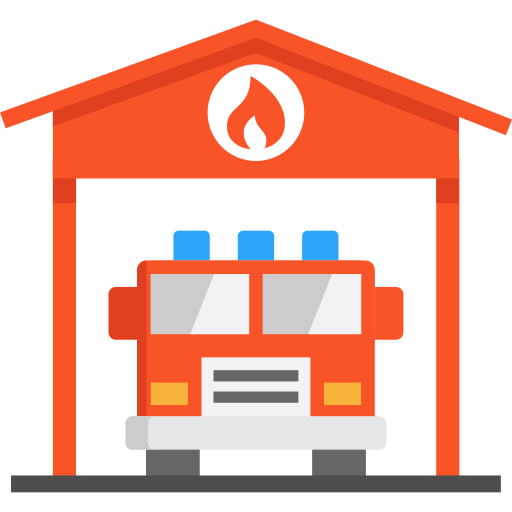 Garage Fire Truck Png Icon