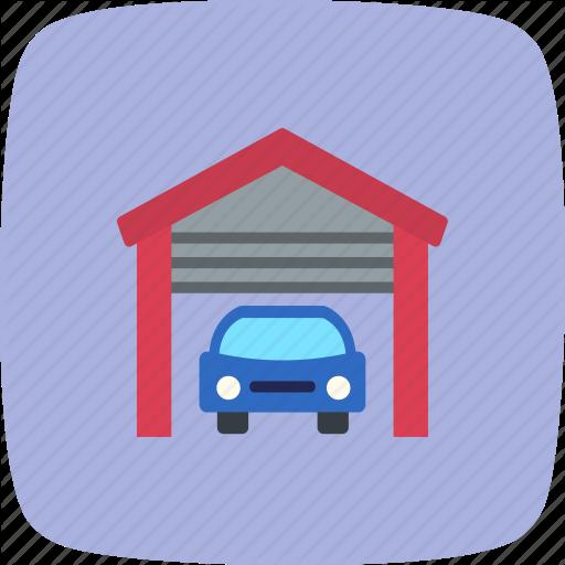 Car Garage, Garage, Parking Icon