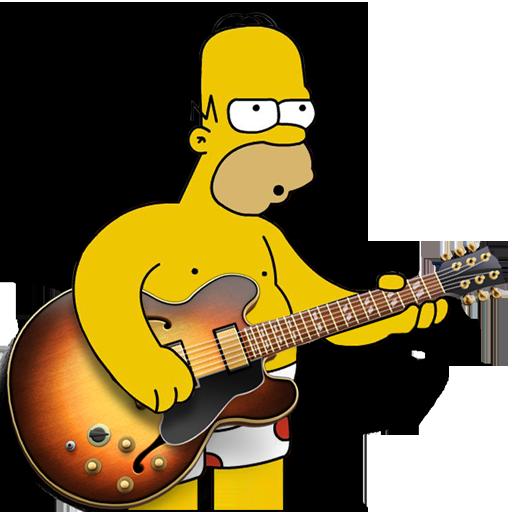 Garage Band Homer Icon Simpsons Iconset Gordon Irving