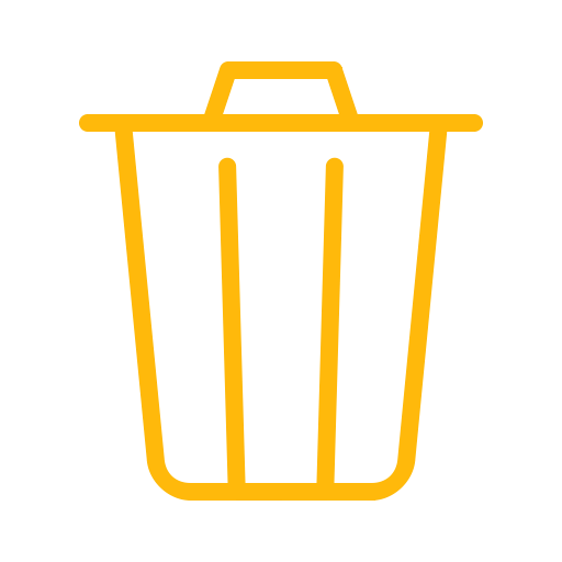 Delete, Remove, Trash, Bin, Recycle, Garbage, Can Icon