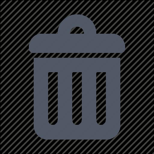 Bin, Delete, Dump, Garbage, Litter, Trash, Trashcan Icon