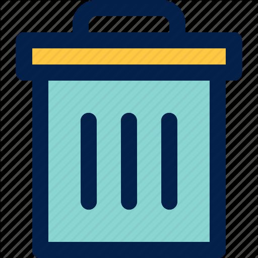 Bin, Garbage, Trash Can Icon