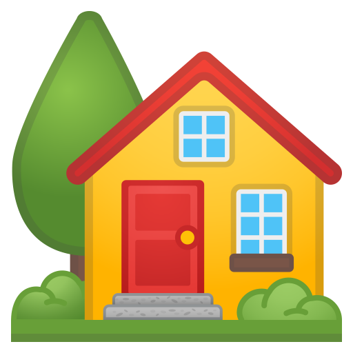 House With Garden Icon Noto Emoji Travel Places Iconset Google