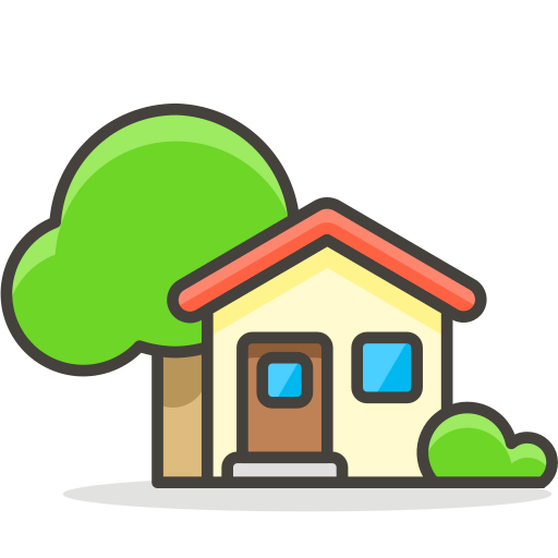 House, With, Garden Icon Free Of Free Vector Emoji