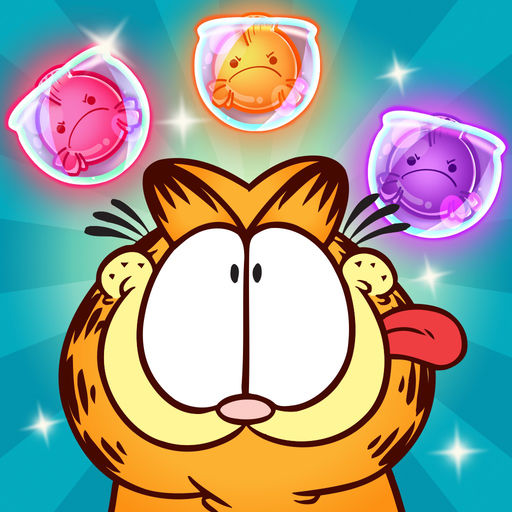 Kitty Pawp Free Bubble Shooter Featuring Garfield