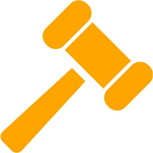 Orange Gavel Icon