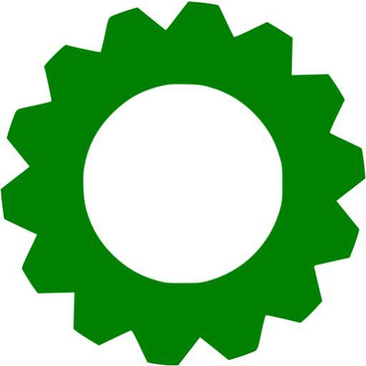 Green Gear Icon