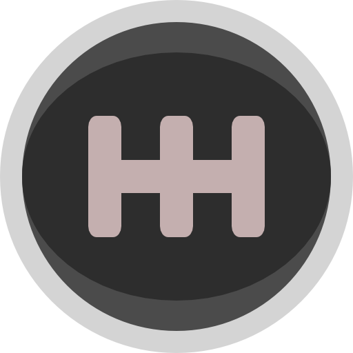 Racing Gear Shift Knob Icon Simple Clipart